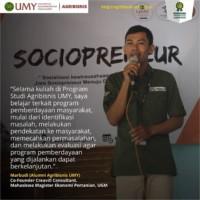 Marbudi Agri-2015, Co-founder Creavill Consultant dan Mahasiswa Magister Ekonomi Pertanian UGM
