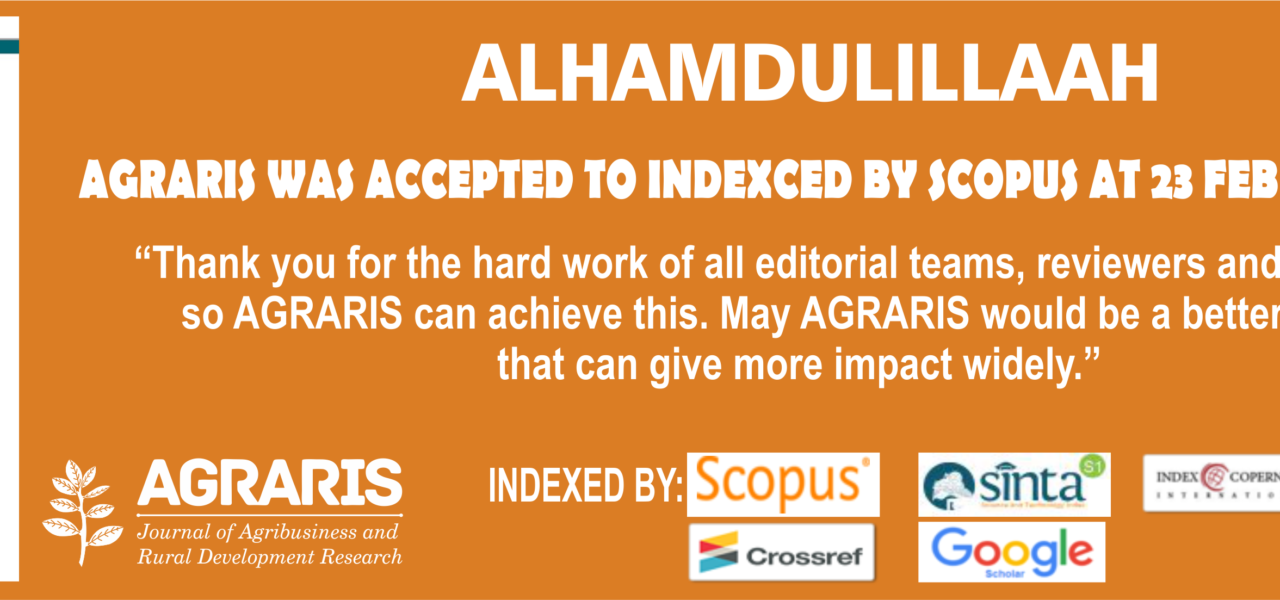 AGRARIS accepted Scopus